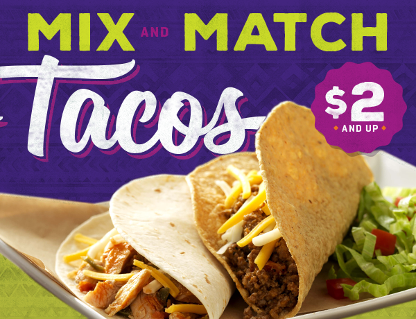 Tuesday's Taco Fix Deal - Tacos starting at $2