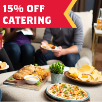 Enjoy 15% off catering orders of $150+ with FBALL15
