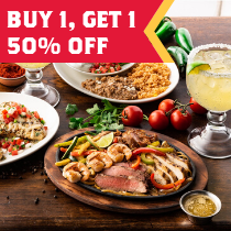 Buy one entree, get a second entree 50% off with BOHO!